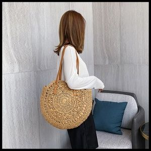 NEW WAVE Straw Weave Shoulder Bag